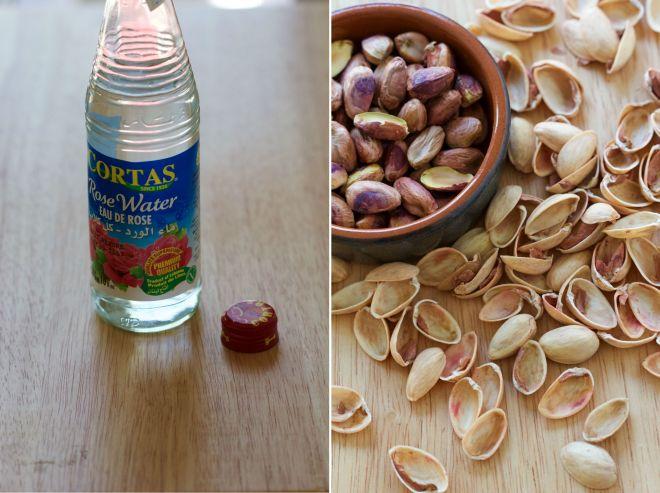 pistachio rose dyptich