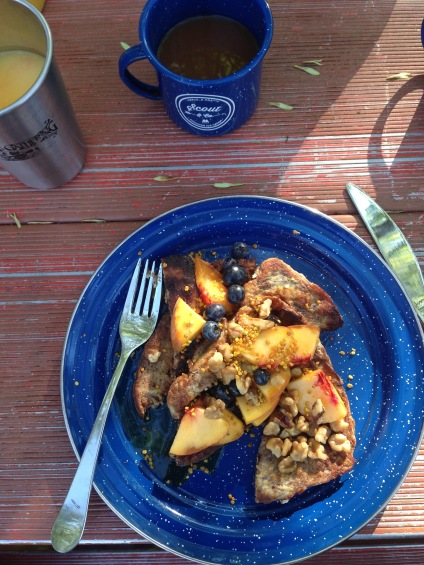 A first-class camp breakfast, Zion National Park, Utah